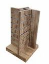 Free Standing Wooden Cosmetic Slatwall Rack