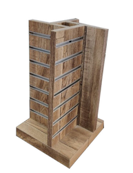 Wooden Cosmetic Slatwall Rack
