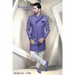 Printed Stitched Pattern Indo Western Sherwani