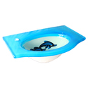 Dolphin Design Glass Wash Basin