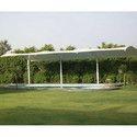 White Swimming Pool Shed