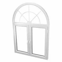 White Modern UPVC Arch Window