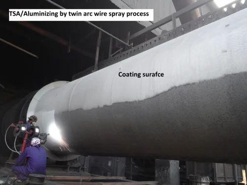 Tsa Coating By High Velocity Arc Spray Process In Jashoda
