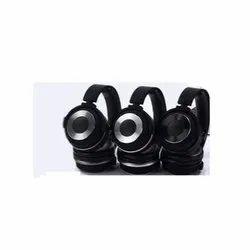 Mobile Black Adjustable Flip Fusion Headphone, Packaging Type: Box
