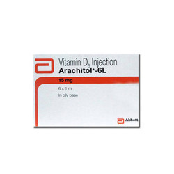 Vitamin D Vitamin D3 Injection, Packaging Size: 6 X 1 mL