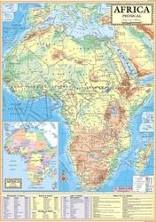 Africa Physical For Wall Map Physical
