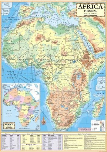 Africa Physical Map At Rs Piece Model Basti New Delhi - Map of africa physical
