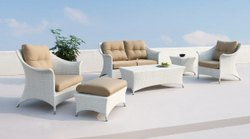 Outdoor Furniture Wicker Conversation Set