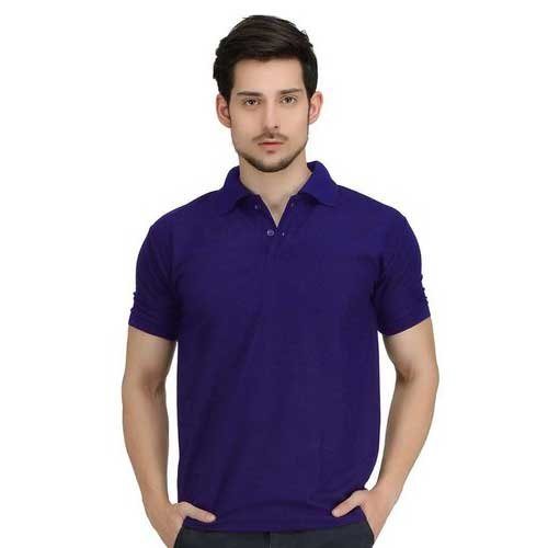 596f31ae Cotton Plain Purple Mens Polo T Shirt, Size: M-XXL, Packaging Type ...