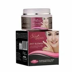 Skin Secret Female Anti Blemish, Packaging Size: 50 Gm, Packaging Type: Cream Jar