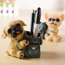 Polyresin Dog Decorative Pen Stand