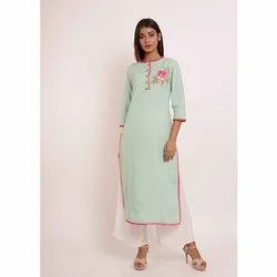 Embroidery Printed Kurti With Palazzo