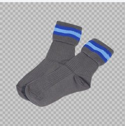 Navy Black  School Socks