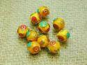 Turquoise Brass Beads Tibetan Coral Brass Beads