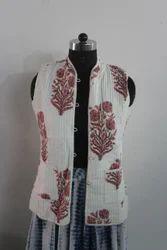 Floral Print Cotton Ladies Jacket, GSM: 50-100 GSM