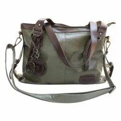 Ladies Leather Strap Handle Handbags