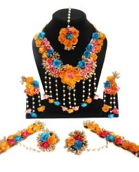 Flower Jewellery Set / Gota Pati jewellery set / Floral Jewellery for Haldi