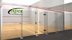 Aluminium Squash Court Back Wall Glass