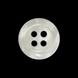 Four Hole White Wooden Button