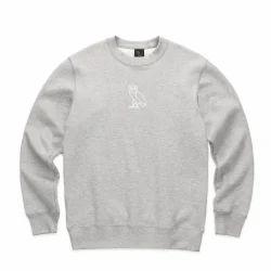 Cotton Plain Sweat Shirt, Size: S-XL