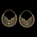 Mandala Flower Tribal Brass Festival Gypsy Ethnic Earrings