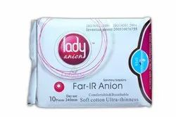 Lady Anion Sanitary Napkins - 240mm - 10 Pieces Per Pack