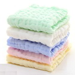 Double Layer 4 Layer Bulky Soft Baby Blankets in Solid Color