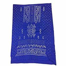 All Over Blue Fancy Design Cotton Bandhani Kurti