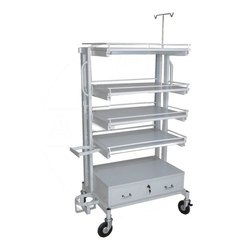 Stainless Steel Monitor Trolley