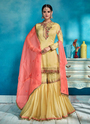 Wedding Special Hand Work Rangoli Sharara Suits
