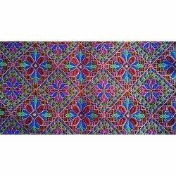 Kacchi work garba fabric