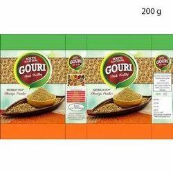 200g Gouri Dhaniya Coriander Powder, Packaging Type: Packet