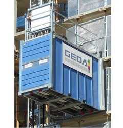 Geda Rack And Pinion Industrial Elevator, Capacity: 2-5 Ton