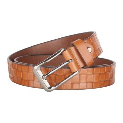 Mens Tan Designer Leather Belt