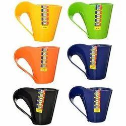 Vivo Plastic Multipurpose Tea Coffee Mugs-Set of 6