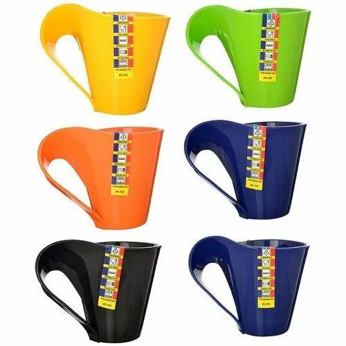 Vivo Plastic Multipurpose Tea Coffee Mugs-Set of 6, Size: 200 mL