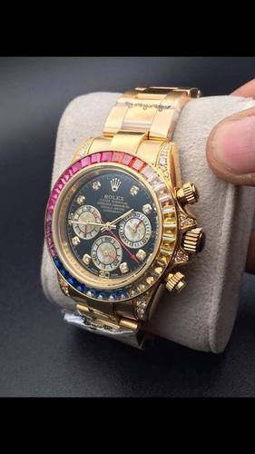 Gold Rolex Rainbow Watch, Shiv Enterprise