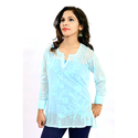 White Full Sleeve Short Kurti