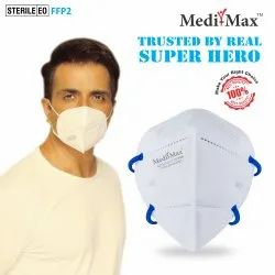 N95 DRDO, BIS/ISI Certified  Face Mask Without Valve (With Headloop)