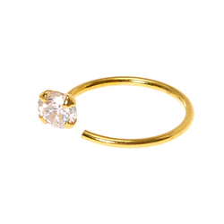 Stone Gold Nose Ring