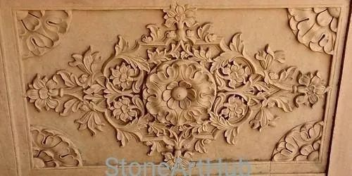 Carved Stone Panel