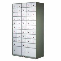 Gray And White Godrej Safe Deposit Locker Cabinet