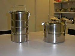 Maple Silver Stainless Steel Thai Tiffin
