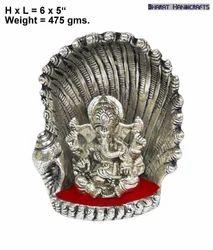 White Metal Seep Ganesha