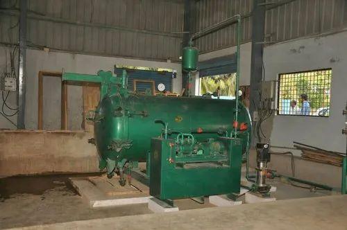 Wood chemical treatment plant