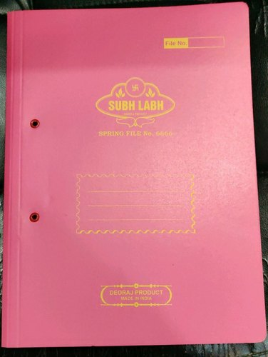 Pink Subh Labh Office Spring File, Packaging Type: Packet