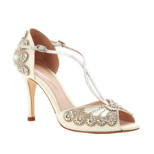 f5ff19246430dd Bridal Wear Cream Color Fancy Bridal Sandal