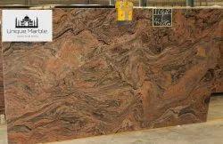Brown Polished Juparana Gold Granite, Thickness: 15-20 mm