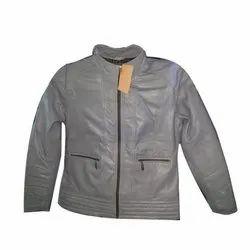 Ladies Grey Leather Jackets