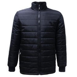chaine Full Sleeve black puffer polyester jacket